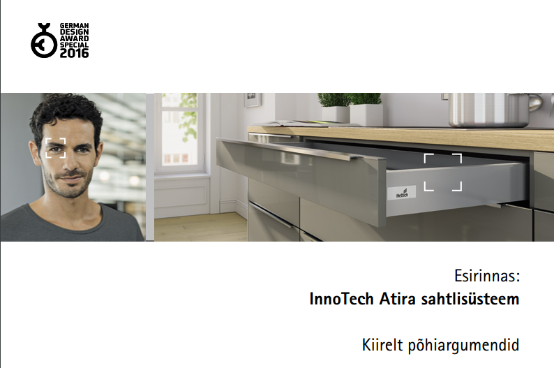 Hettich sahtlisüsteemid InnoTech Atira