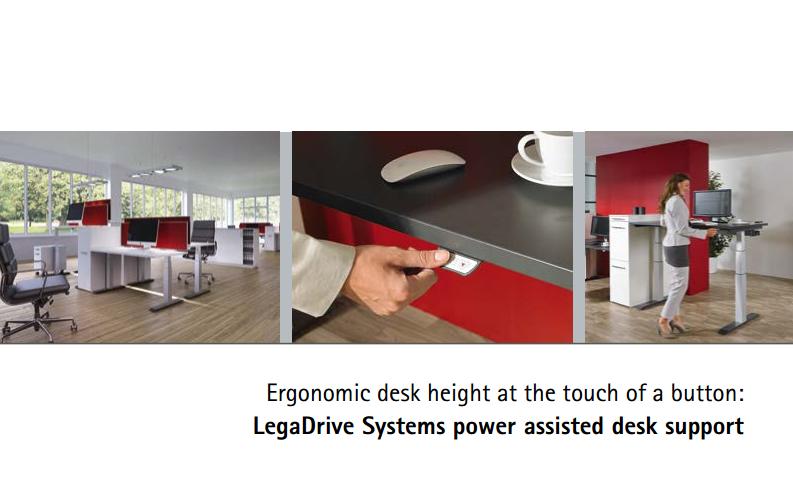 Hettich Ergonoomilised lauajalad LegaDrive